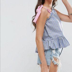 ASOS stripe blouse